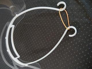 輪ゴムをひっかけるフック部分